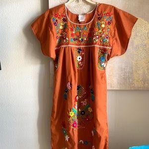 Dresses & Skirts - Burnt Orange Mexican Dress